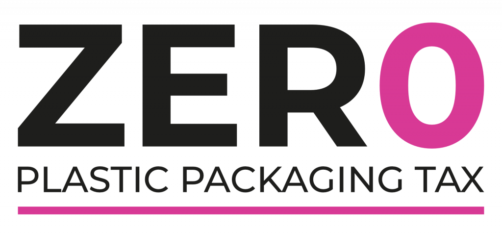 Zero Plastic Packaging Tax Logo