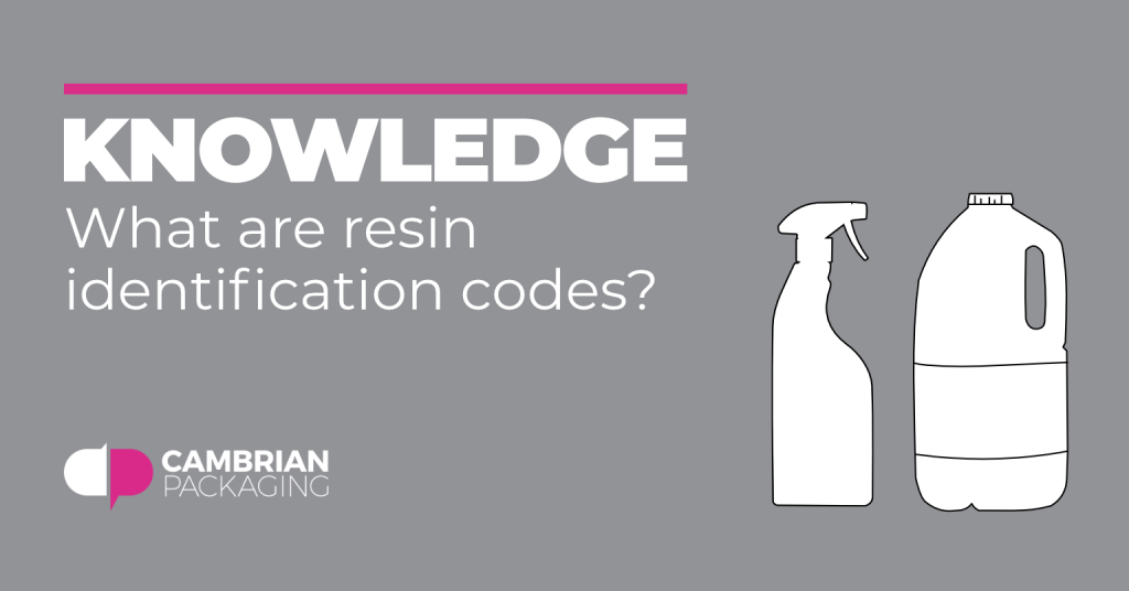 What are resin identification codes