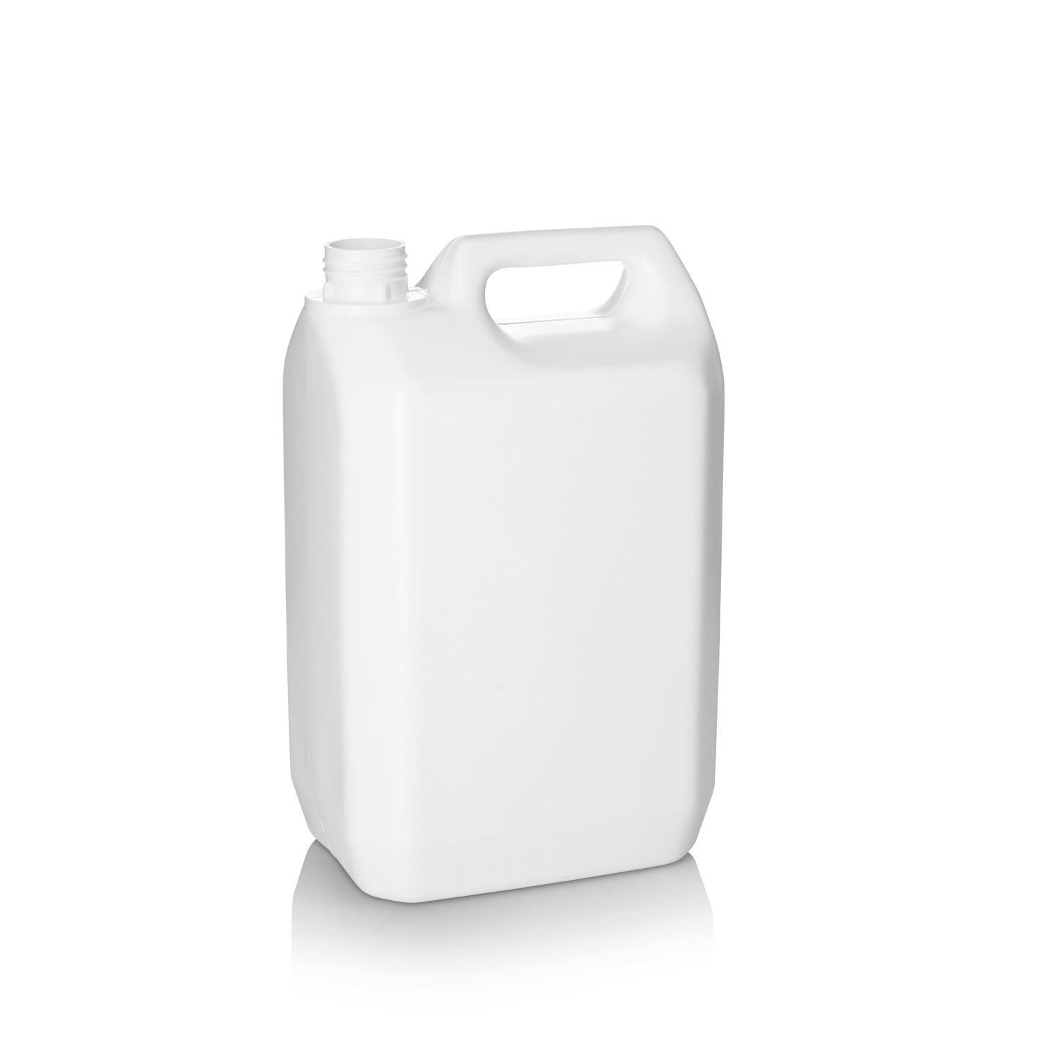 5L White Jerry Can - Cambrian Packaging